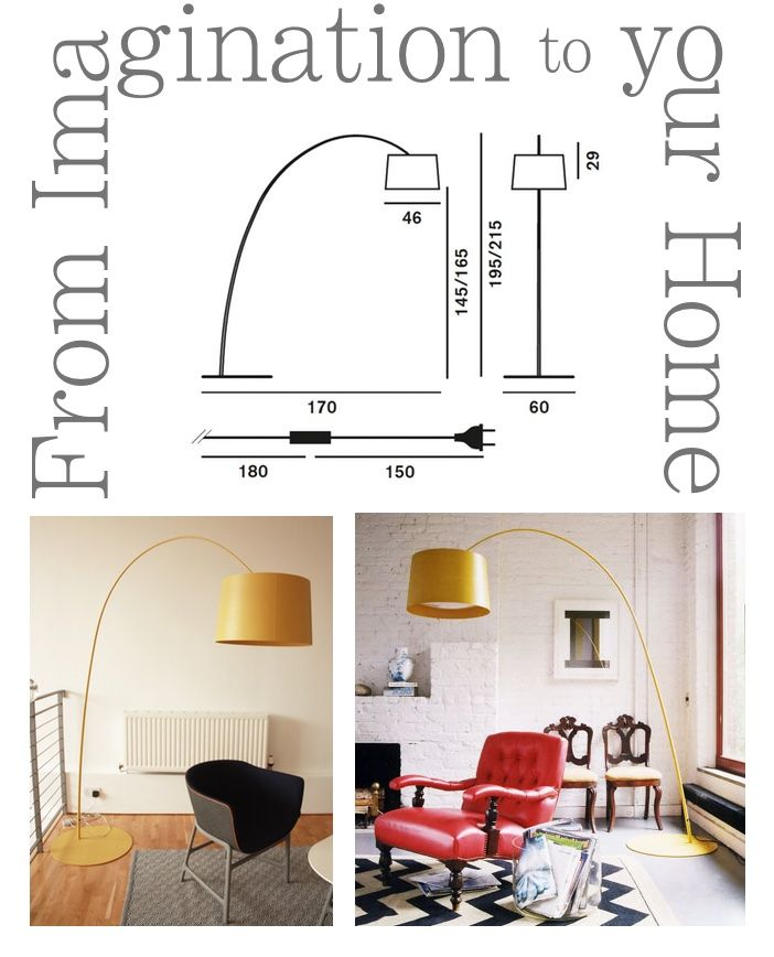 #steel TWIGGY FLOOR W floor #lamp by Foscarini: from our studios and fantasy, to your precious and unique #home. http://bit.ly/1Bh0eG5 #design #style #designer #furniture #furnishing