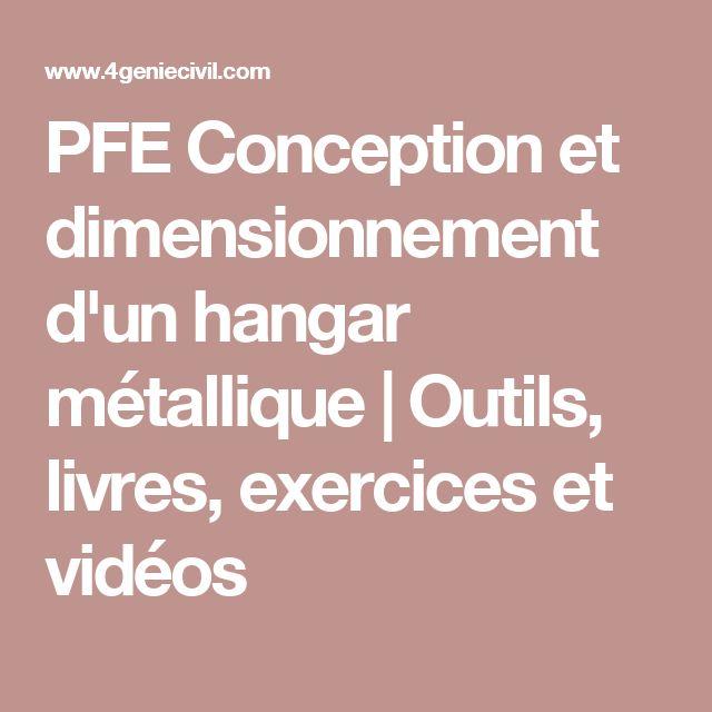 PFE Conception et dimensionnement d'un hangar métallique | Outils, livres, exercices et vidéos