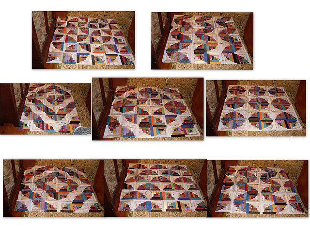 Curved Log Cabin Layouts By Linda Rotz Miller Quilts