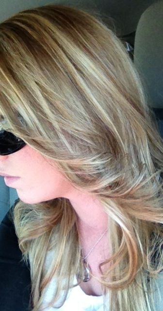 My Fall Hair Color Blonde Highlight Copper Brown Low