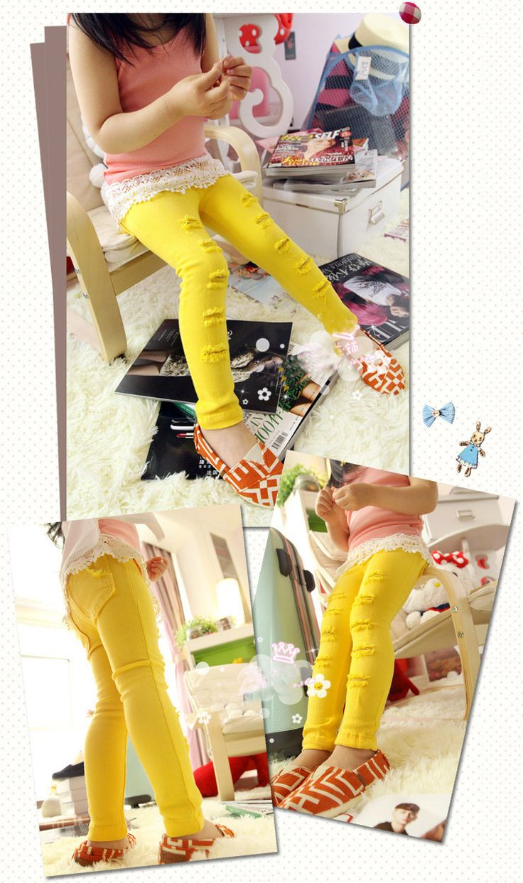 Girl's pants in yellow with sizing from 1-2 to 5-6. Available for pre-order from www.maxidressheaven.com #girl #Pants #yellow #denim