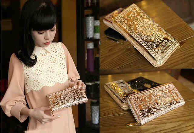 Golden classic long-wallet ❤ MUST HAVE !!