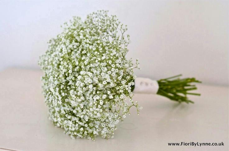 Gorgeous gypsophila bouquet for bridesmaids