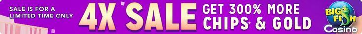 Limited Time! 4X Big Fish Casino Sale on all Chips and gold. No code needed, offer ends August 15, 2015. http://www.bigfishgames.com/games/7315/big-fish-casino/?pc?channel=affiliates&identifier=af5dc3355635