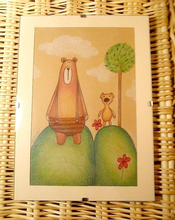 Kresbička Macík a mamička