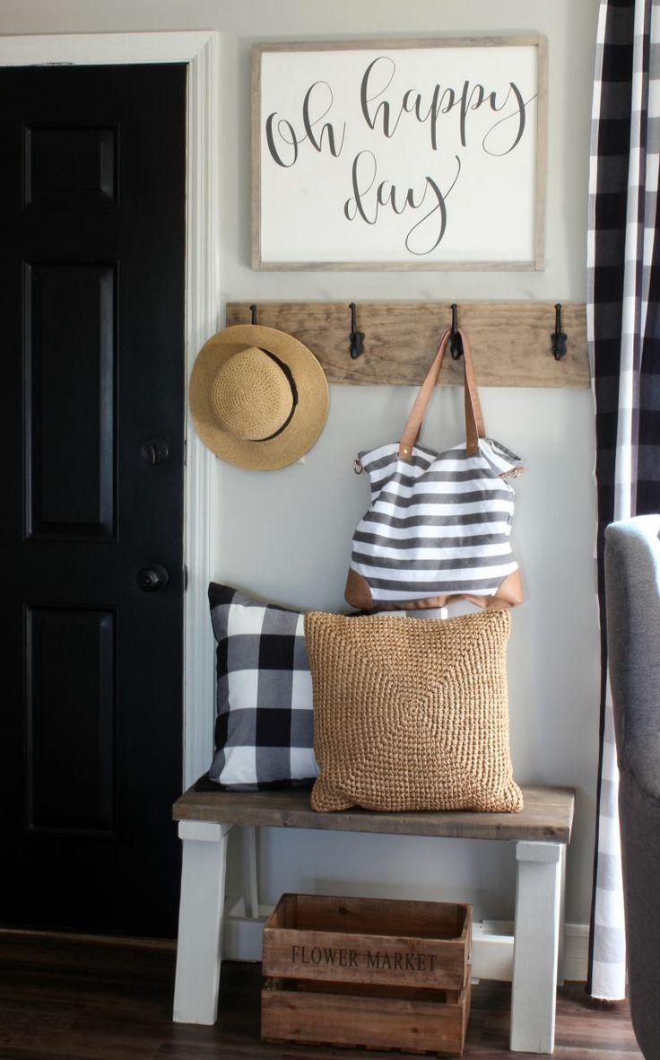 Entrance Ideas - Home Decor - House Inspiration - Bohemian - Rustic - Hallway - Hall Tree