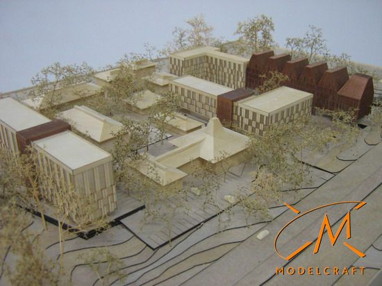 1:500 Timber & Acrylic Architectural Model by Modelcraft (NSW) Pty Ltd - 11018