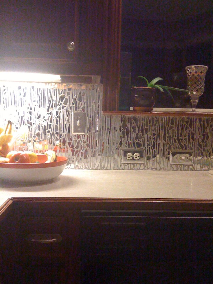 My Broken Mirror Backsplash Took Forever Love It Tho