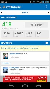 Calorie Counter - MyFitnessPal - this app is super helpful!!
