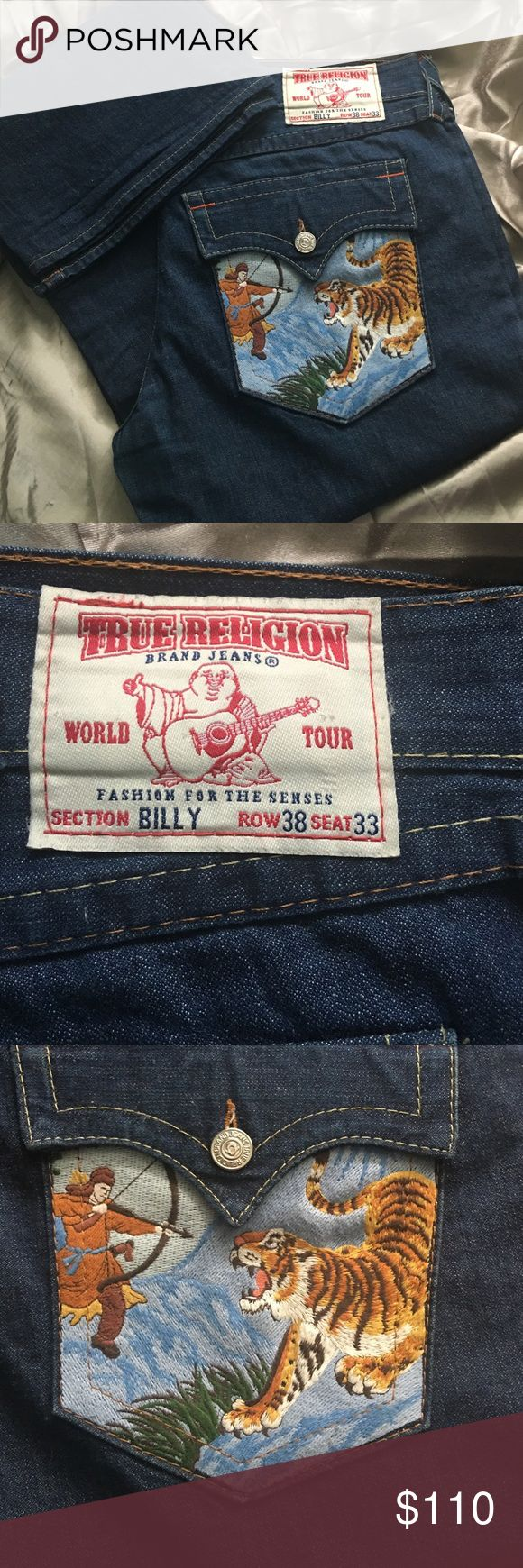 Men's true religions Men's classic true religion jeans Billy style size 38x33 vintage hard to find True Religion Jeans
