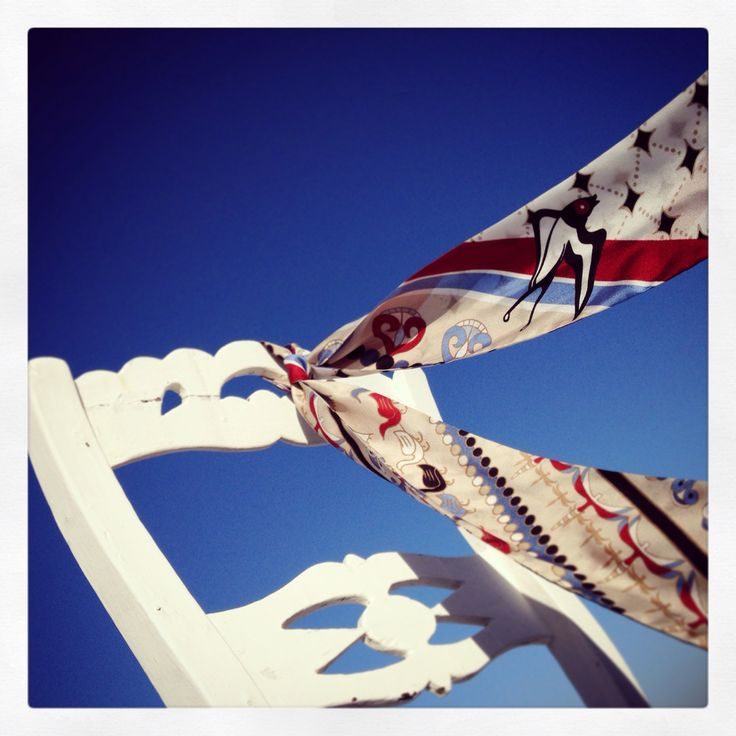 """Santorini"" silk ribbon by Grecian Chic!"