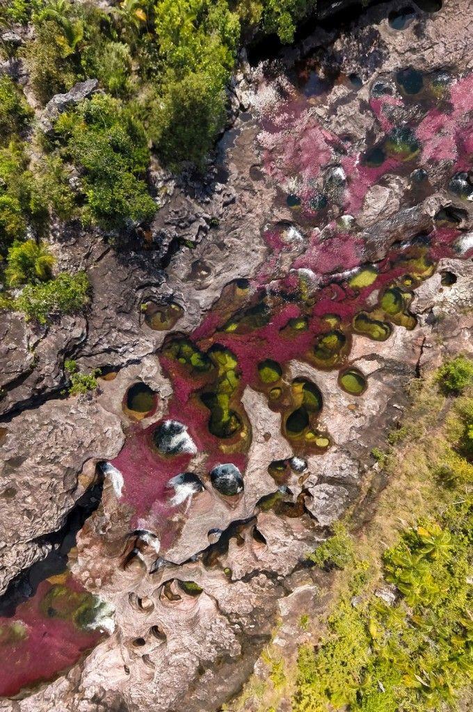 Fotografía aérea de Caño Cristales