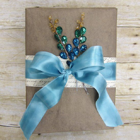 Design your own gift wrap using upcycled grocery bags