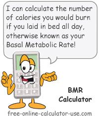 """Basal Metabolic Rate Calculator:  This free online calculator will help you to calculate the total calories you would expend if you spent all day resting (also referred to as your """"metabolism""""). As you age your metabolism tends to slow down, making it increasingly difficult to maintain and lose weight. Calculating your Basal Metabolic Rate at each age will help keep you abreast of where your activity level needs to be in order to lose or maintain weight."""