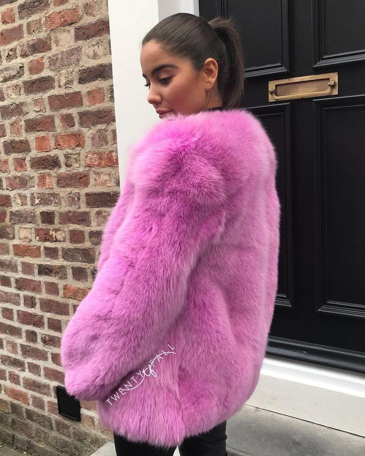 On Wednesday's we wear pink!Pink Full Pelt Fox Fur CoatCoat of dreams Shop your winter coat online now www.twentyfall.co.uk