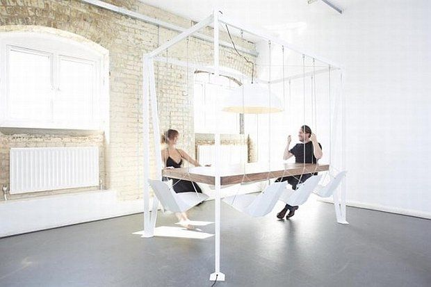 Dining Room Swing Table Swinging Chair Modern Patio Furniture