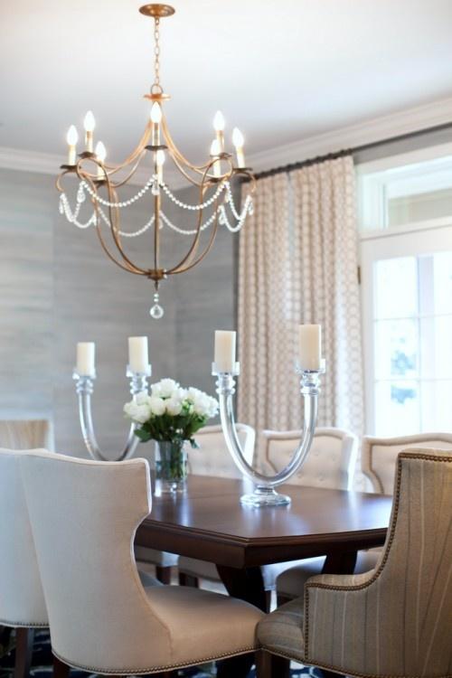 Light blue grasscloth wallpaper for the home pinterest for Kitchen dining room wallpaper