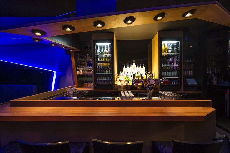 COOLFIN('s) #DARK colors black-gold #LED #ArchitecturalLighting #project BAR A BAR at Oudenaarde BE
