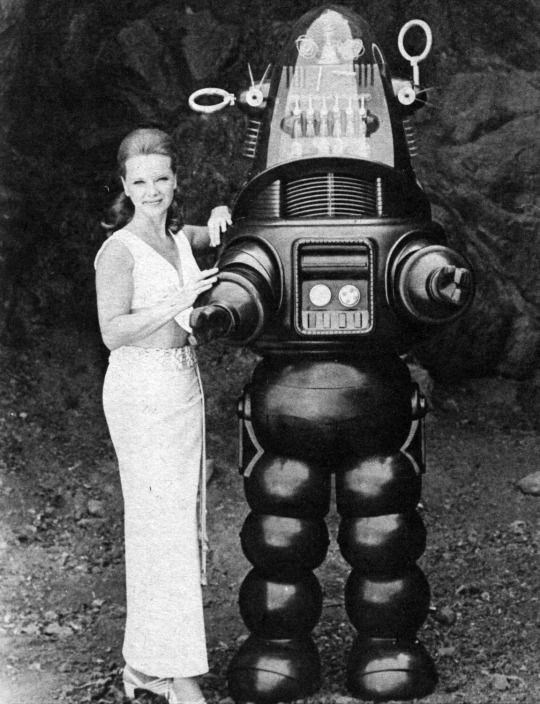 Anne Francis and Robby the Robot