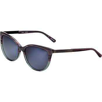 89b3408606 Karen Kane Lovechain Gray Green Polarized Sunglasses