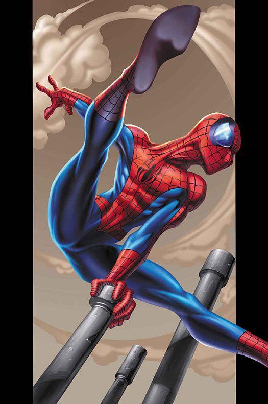 #Ultimate #Spiderman #Fan #Art. (Ultimate Spiderman #2 Cover) By: Mark Bagley. (THE * 5 * STÅR * ÅWARD * OF: * AW YEAH, IT'S MAJOR ÅWESOMENESS!!!™)[THANK Ü 4 PINNING!!!<·><]<©>ÅÅÅ+