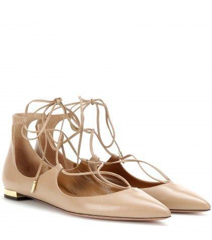 2015 Diseñador de las mujeres del dedo del pie puntiagudo cuero genuino lace up pisos zapato sandalia zapatos náuticos de cuero