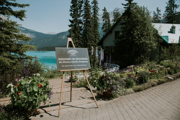 Beautiful Wedding Venue - Emerald Lake Lodge Wedding , in Field BC, Canada. This is the view point where ceremony magic happens. Banff and area Weddings are the best!