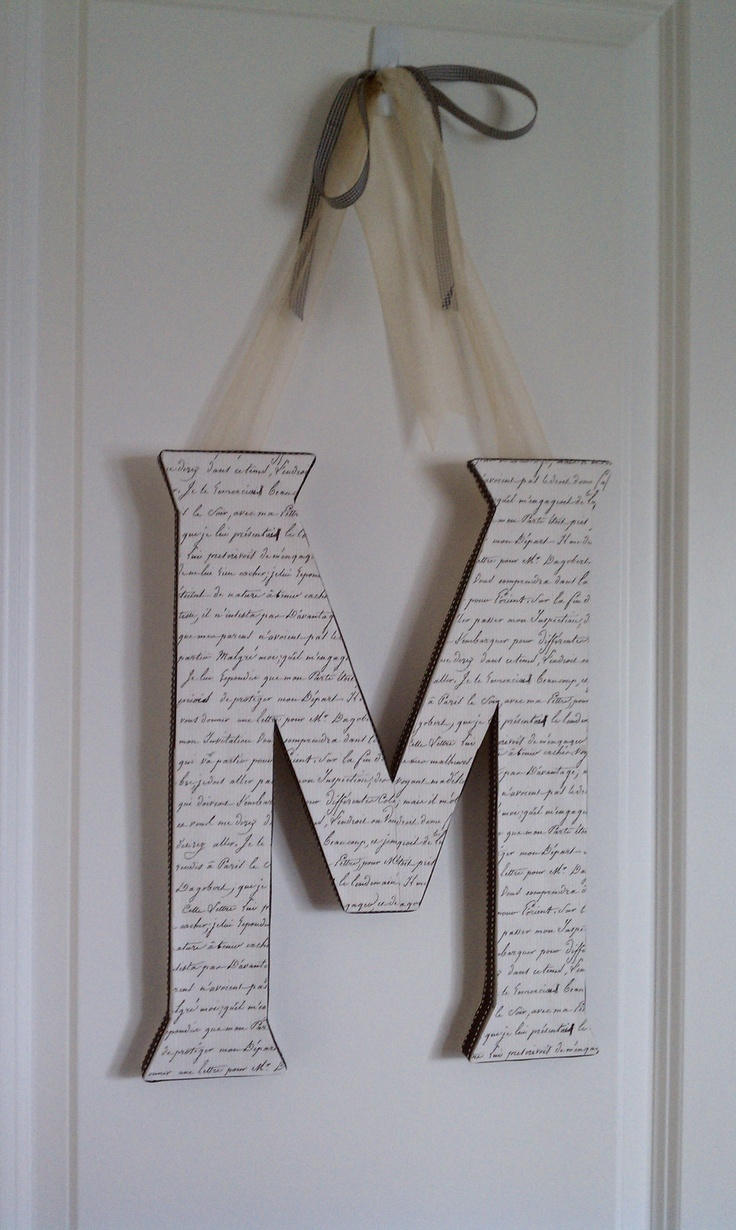 Foam board craft ideas - Made From Double Sheets Of Foam Core And Wrapped In Letter Monogramdiy Craft Projectsoffice