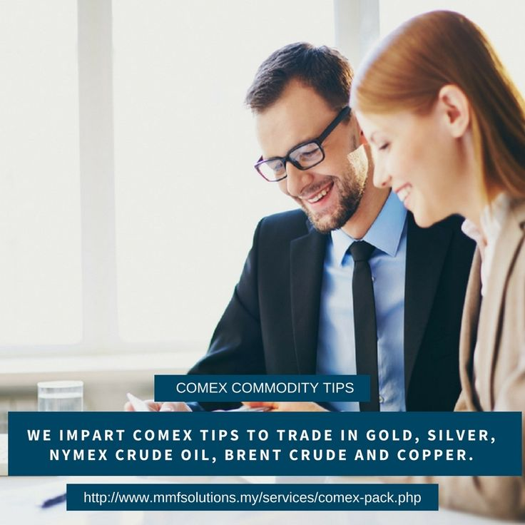 Comex commodity tips - We impart comex tips to trade in gold, silver, nymex crude oil, brent crude and copper. http://www.mmfsolutions.my/services/comex-pack.php
