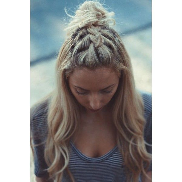 Messy Buns ❤ liked on Polyvore featuring beauty products, haircare, hair styling tools, hair, hair styles and beauty