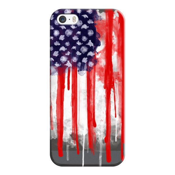 iPhone 6 Plus/6/5/5s/5c Case - American Spatter Flag - Transparent ($35) ❤ liked on Polyvore featuring accessories, tech accessories, phone cases, phones, phonecases, tech, iphone case, iphone cover case, apple iphone cases and transparent iphone case