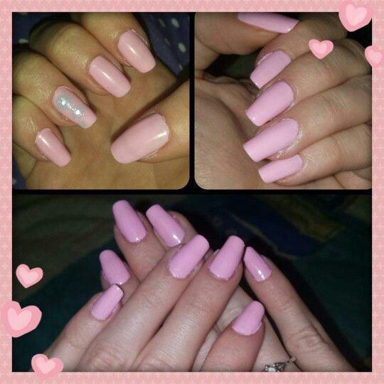 My baby pink nails