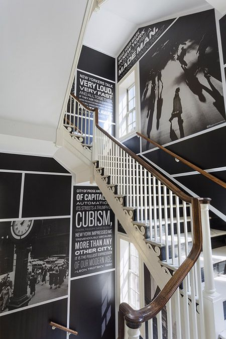 Stairwell B at the Museum of the City of New York. Project Team: Michael Bierut, partner-in-charge and designer; Britt Cobb, designer.