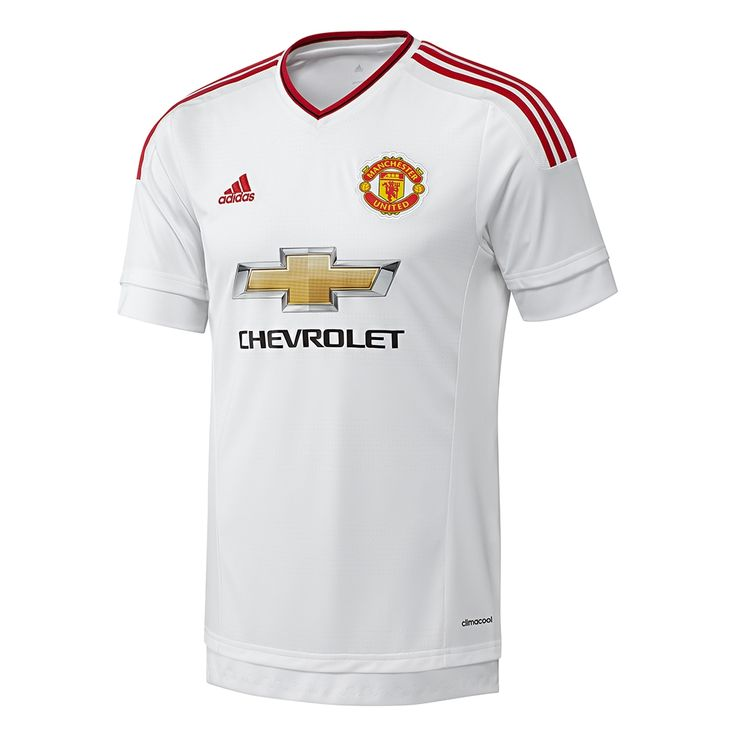 The 2015-16 Adidas Manchester United away jersey goes with a classic design. The White Manchester United jersey features red detail to showcase the Red Devils. Get the Man United jersey today at SoccerCorner.com   http://www.soccercorner.com/Adidas-Manchester-United-Away-15-16-Jersey-p/tt-adai6363.htm