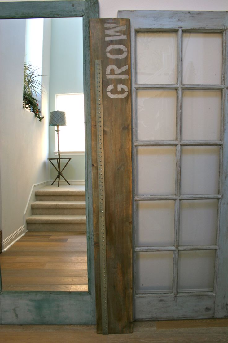 Restoration Hardware inspired height & wood growth chart (5)