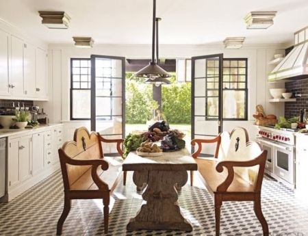 Let this picture inspire how you use the black shade pendant lights.  Image c/o Elle Decor. - Complete Pad