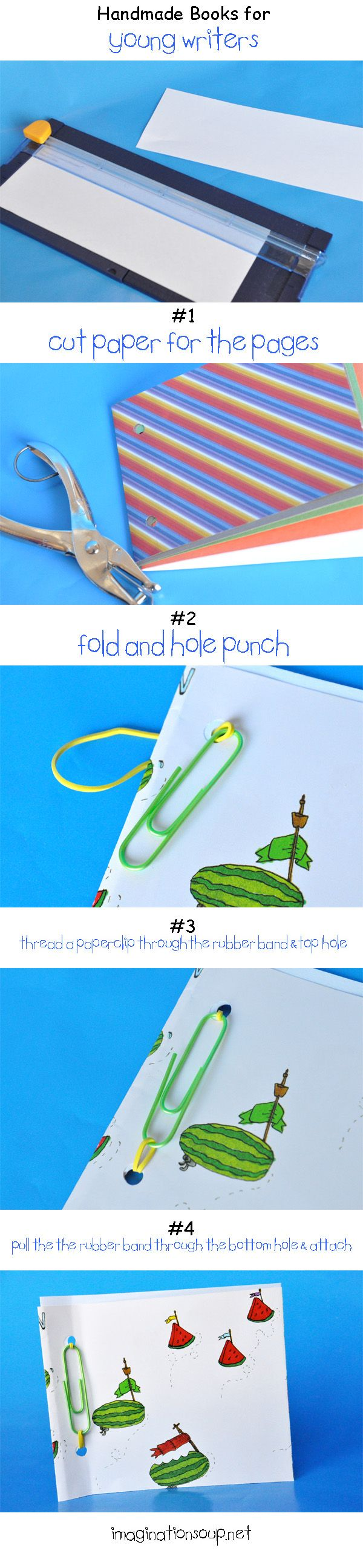 Easy DIY handmade books - detective notebook and pencil