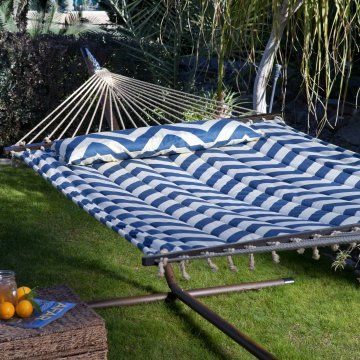 harbor and cream chevron stripe quilted hammock with 15 ft hammock stand hammock with stand sets at hayneedle
