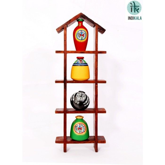 Name : Hut Shaped Frame Unit with Four Elegant Pots Price : Rs 999 Buy Now at : http://www.indikala.com/hut-shaped-frame-unit-with-four-elegant-pots.html #Handmade #Handicraft #Pots