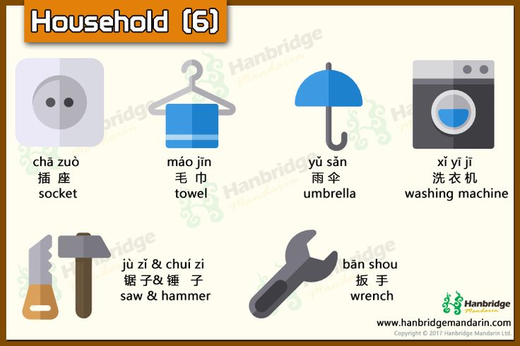 Chinese vocabulary about household-part 6