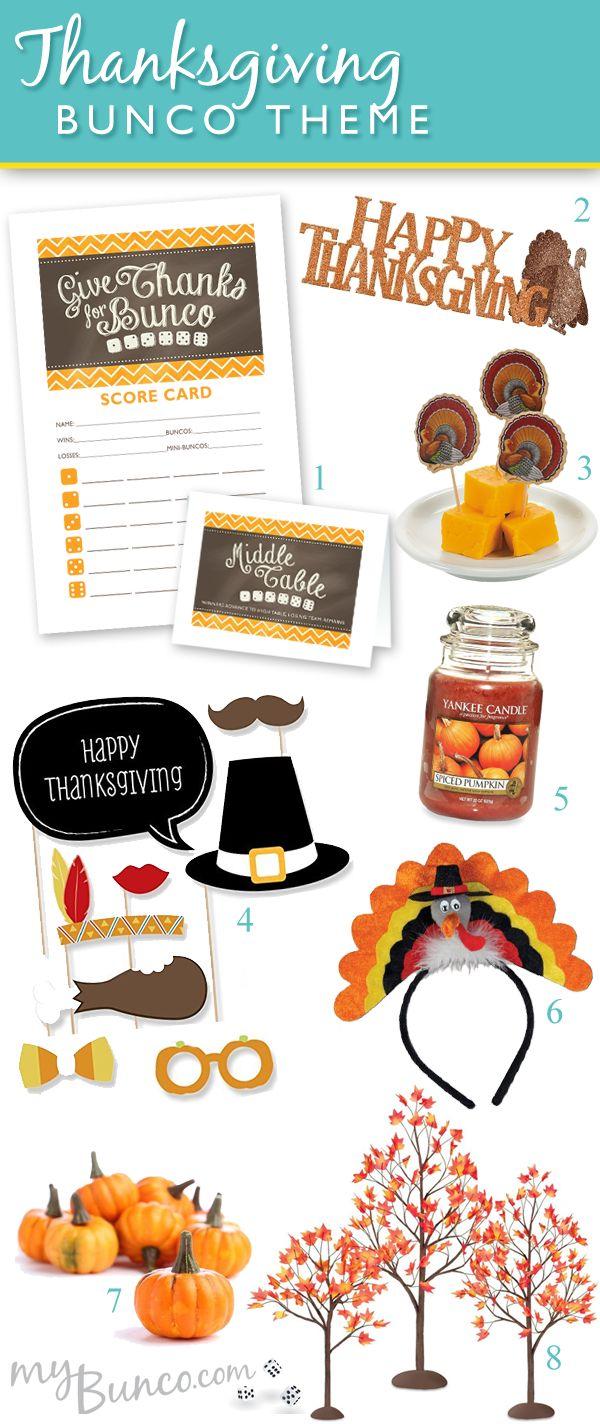 Thanksgiving theme bunco party ideas!