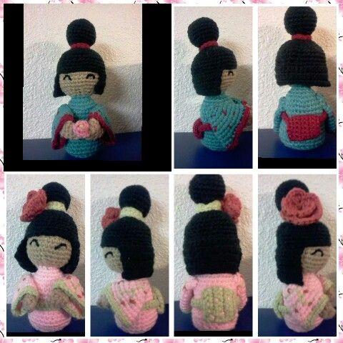 Crochet kokeshi Amigurimi