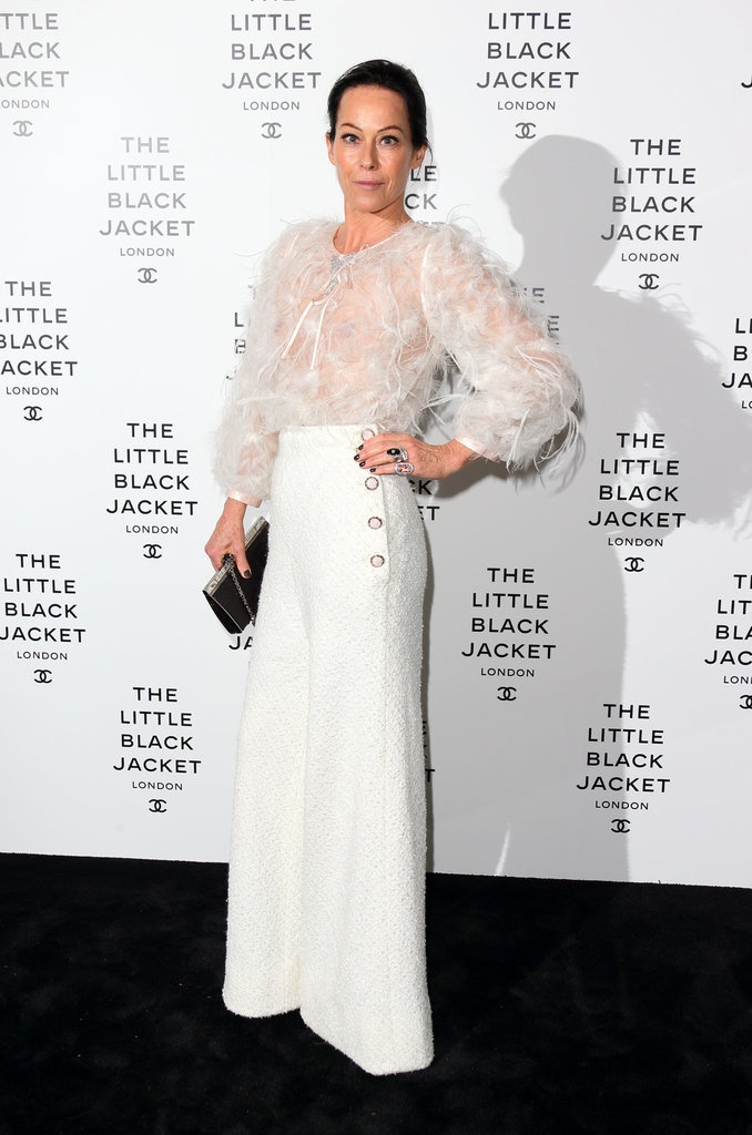 """Amanda Harlech at Chanel's The Little Black Jacket exhibit in London. """"This Week's Best Dressed"""" fashionologie.com #2231"""