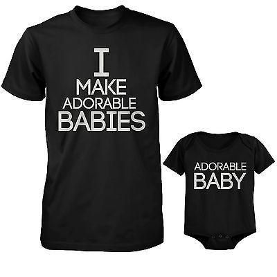 I Make Adorable Babies T-Shirt and The Adorable Baby Bodysuit Matching Set https://presentbaby.com