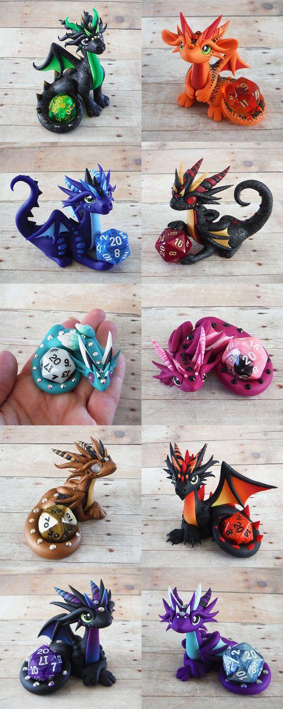 Dragones de porcelana o arcilla