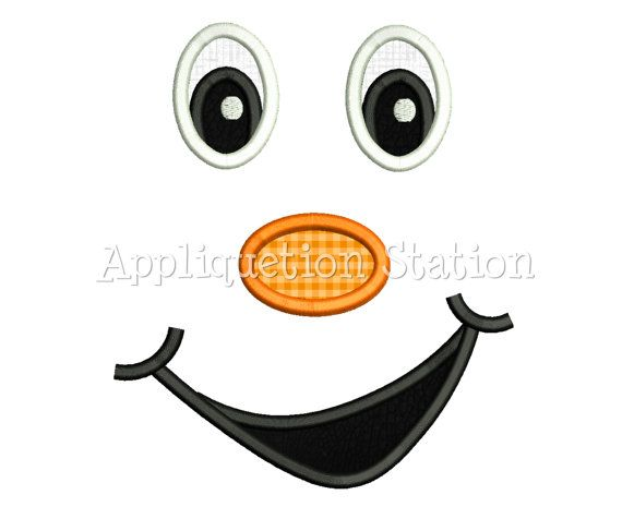 Face Cheeky Grin Smile Applique Machine by AppliquetionStation