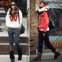 Free Shipping Women Casual Letter Print Suit Hoodie Sweatshirt Sports Coat Tracksuit