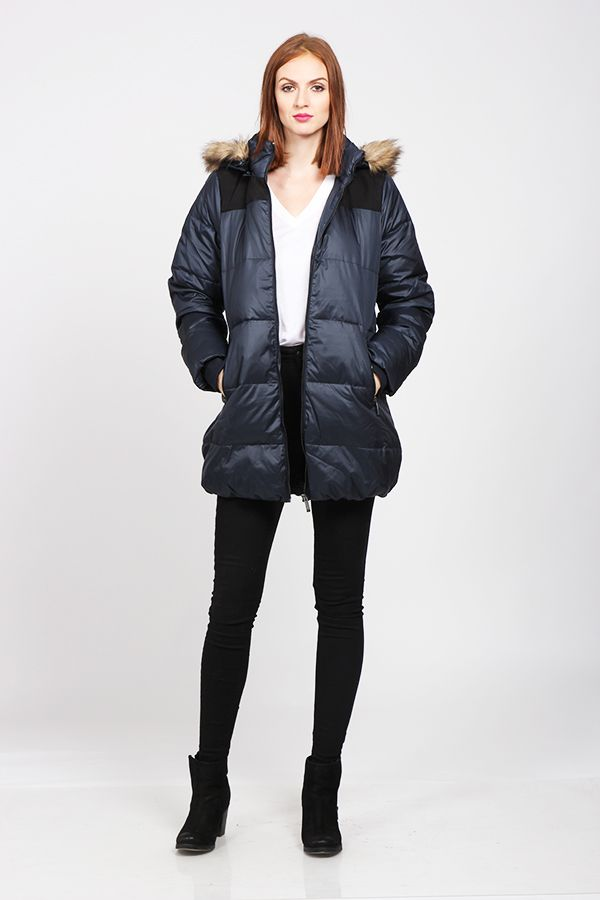 Winter jacket with fur collar
