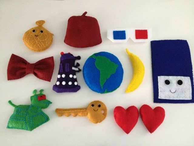 My Doctor Who Nursery: Felt: stuffing, sewing and glueing