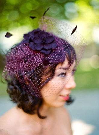 Birdcage Veil #film #weddingphotographer #bride #vintagebride #purple @Silvana Di Franco Photography